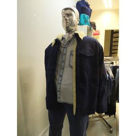 Jaqueta Jeans Forrada Forro Super Suave Unisex  Gg Eg
