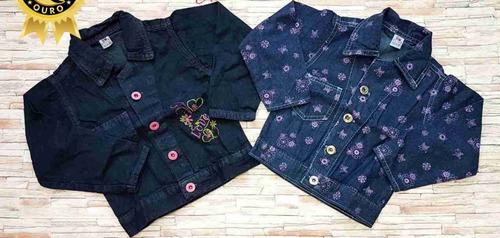 jaqueta jeans infantil menina 2-4-6