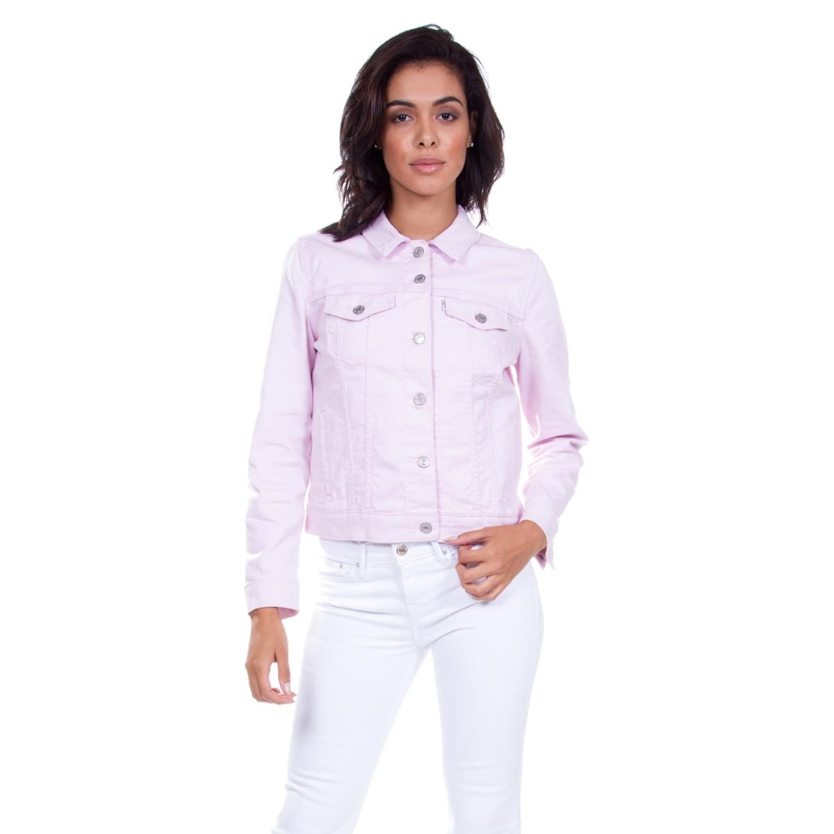 3006e6a941 Jaqueta Jeans Levis Trucker Original Rosa - R$ 194,90 em Mercado Livre