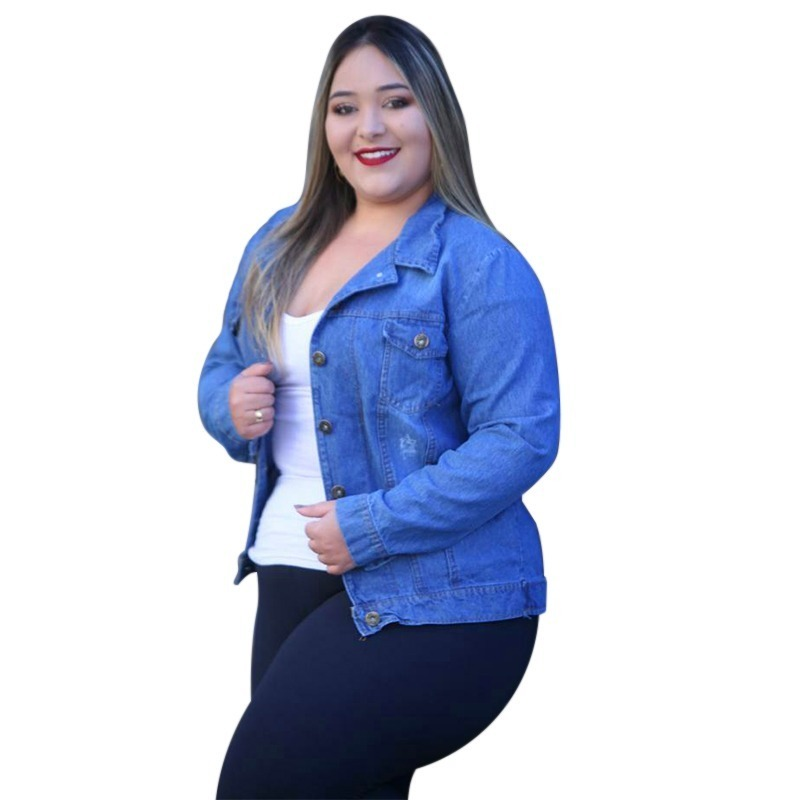 16216eb96c9c jaqueta jeans manga longa moda feminina blogueiras. Carregando zoom.