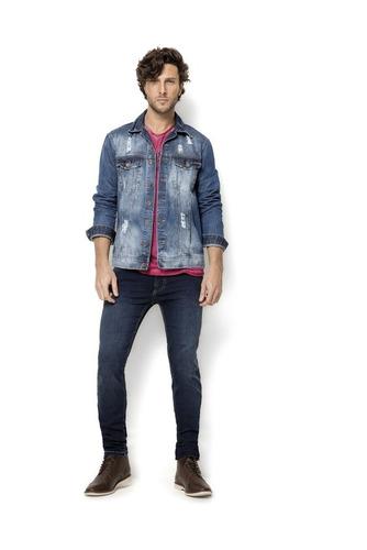 jaqueta jeans masc 16e - jaq6052