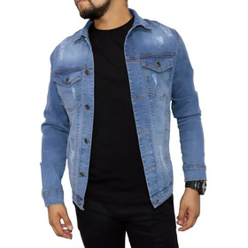Jaqueta Jeans Masculina Premium Outono/inverno 2019