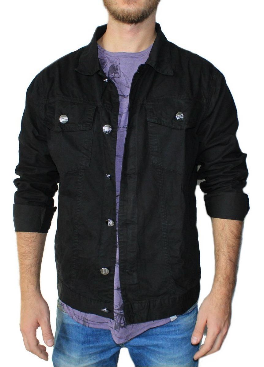 496fb434af jaqueta jeans masculina slim justa preta verde militar dj. Carregando zoom.