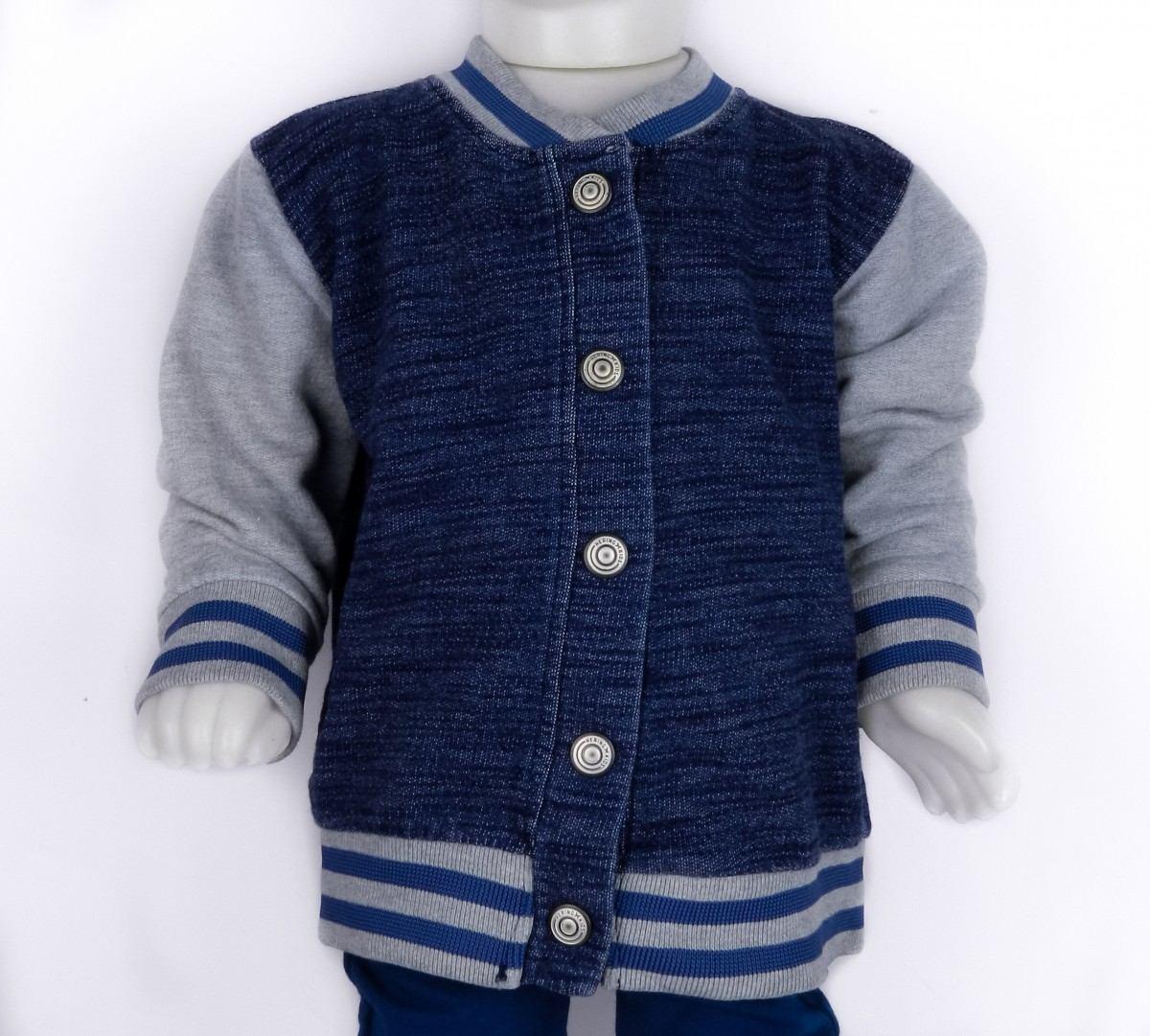 jaqueta jeans moletom infantil hering kids college 54bj1a07. Carregando  zoom. 9813c9bd842