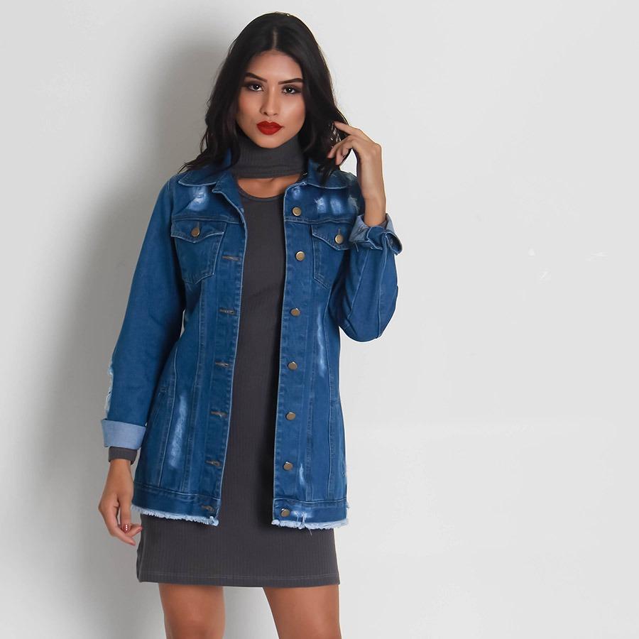 d1f9613ee jaqueta jeans oversized feminina lara. Carregando zoom.
