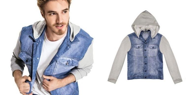 ff2f8f3a9ad40 Jaqueta Jeans/moletom Hering - Cód. 6435 - R$ 159,00 em Mercado Livre