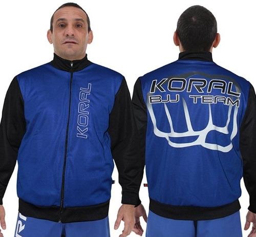 jaqueta jiu jitsu team azul koral