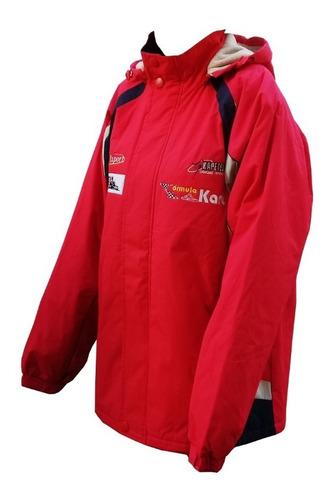 jaqueta l c fórmula kart com capuz