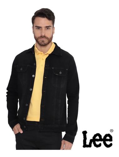 jaqueta lee jeans preta elastano strech masculina original