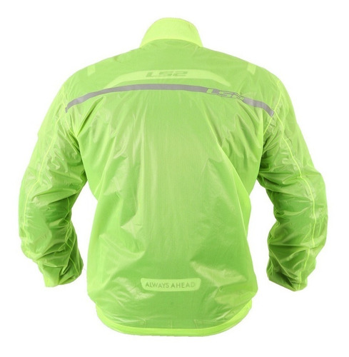 jaqueta ls2 commuter amarelo fluor tipo capa de chuva