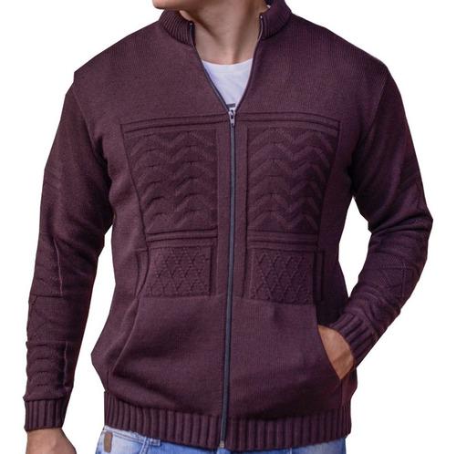 jaqueta marrom masculina de frio malha grossa casaco inverno