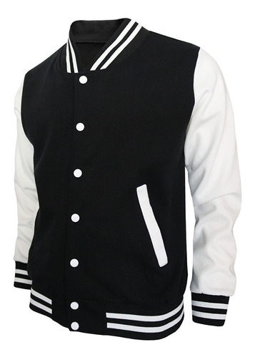 jaqueta masculina baseball college moletom