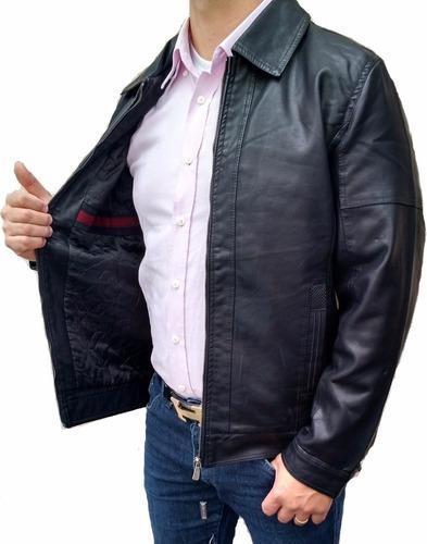 jaqueta masculina couro ecologico forrada com ziper 2016
