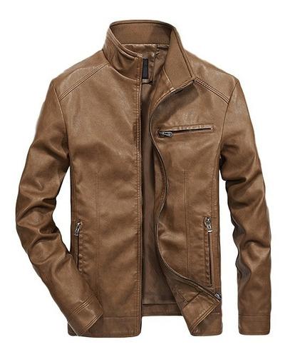 jaqueta masculina de couro slim fit ofert. ref: 637