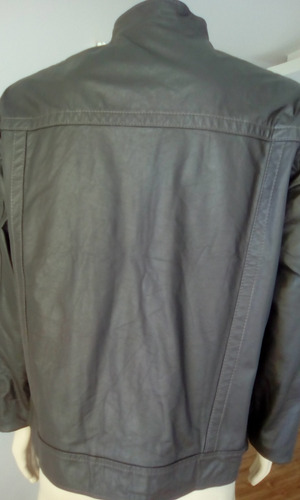 jaqueta masculina em couro legitimo