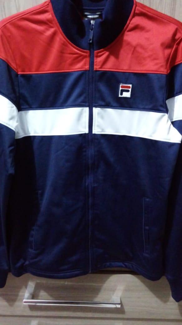 36d6da66834 jaqueta masculina fila soft promoção marinho branco vermelho. Carregando  zoom.