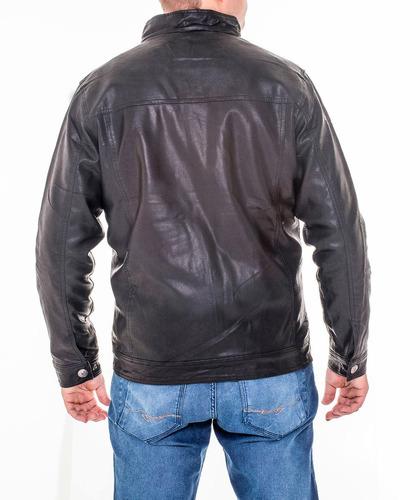 jaqueta masculina gola padre couro vegetal