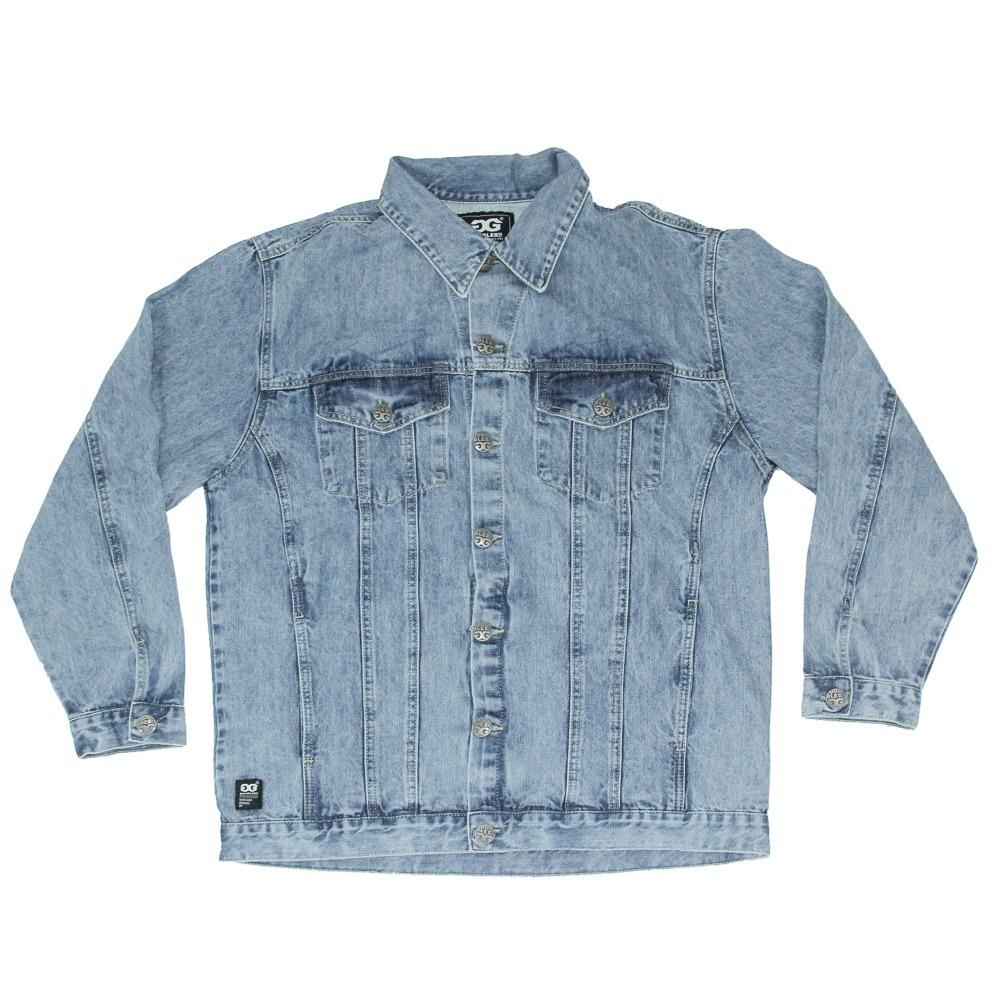 jaqueta masculina manga longa double g ampla jeans azul. Carregando zoom. db3e017e674