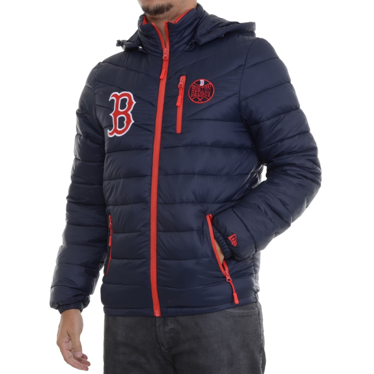 b473646b67f48 jaqueta masculina new era split pocket boston redsox marinho. Carregando  zoom.