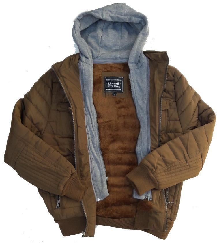 2e0d3e059c jaqueta masculina nylon matelassê capuz moletom removivél. Carregando zoom.