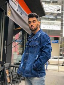 a8e172bb806c29 Jaqueta Masculina Plus Size Jaqueta Jeans Tamanho Especial
