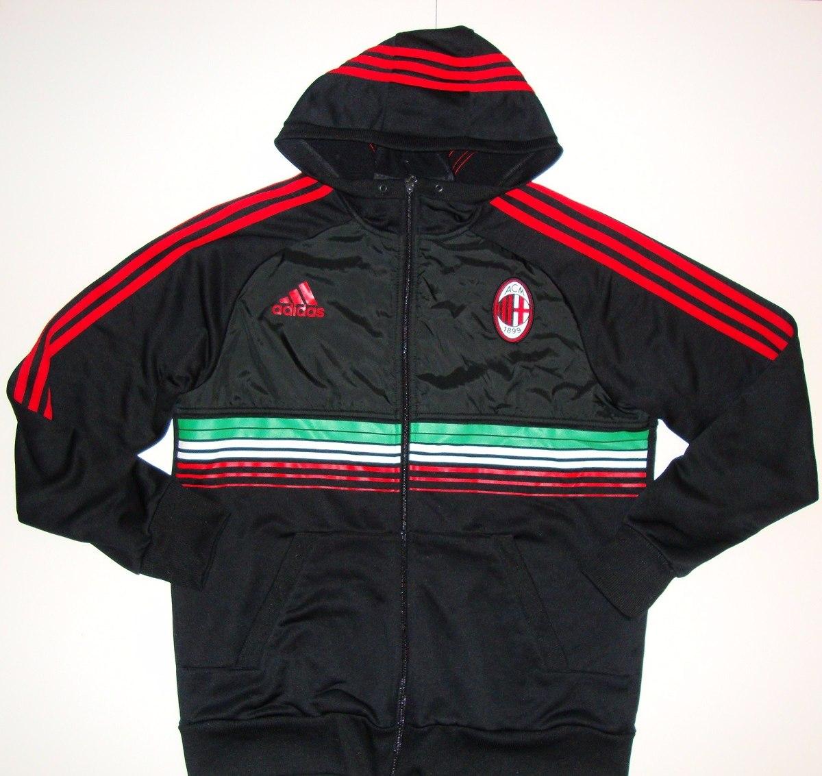c7c8a2260 Jaqueta Milan Itália Oficial adidas Com Capuz G Original - R  229