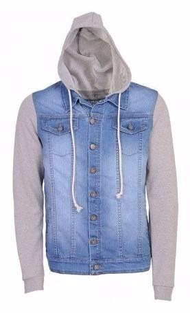 jaqueta moleton jeans masculina a pronta entrega !!!