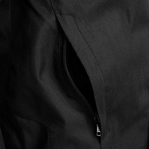 jaqueta moto new strike impermeável com protetores preta