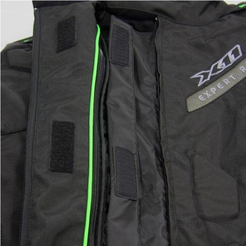 jaqueta moto x11 evo 3 com proteção / impermeável vermelha