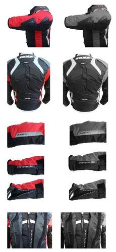 jaqueta motociclista texx kraken 100% impermeável