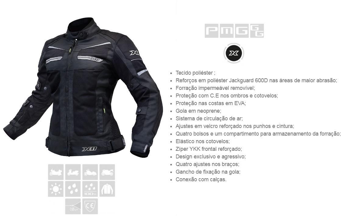 0c9a63e4e jaqueta motociclista - x11 breeze feminina preta ventilada. Carregando zoom.