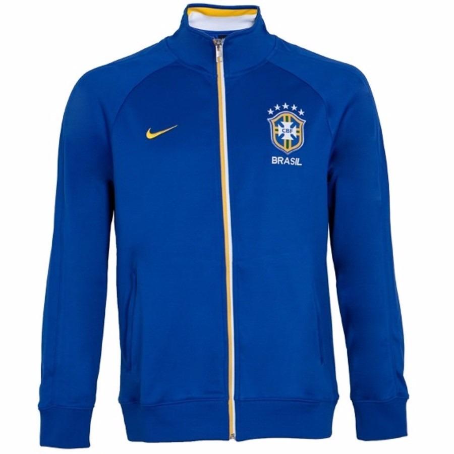 48dbaadbd1f9b Jaqueta Nike Core Trainer Brasil Cbf Azul De 249