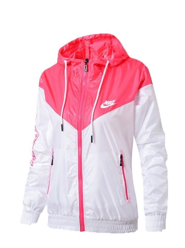 5d3b962bb2 Jaqueta Nike Corta Vento Feminina Rosa Pronta Entrega - R$ 189,95 em ...