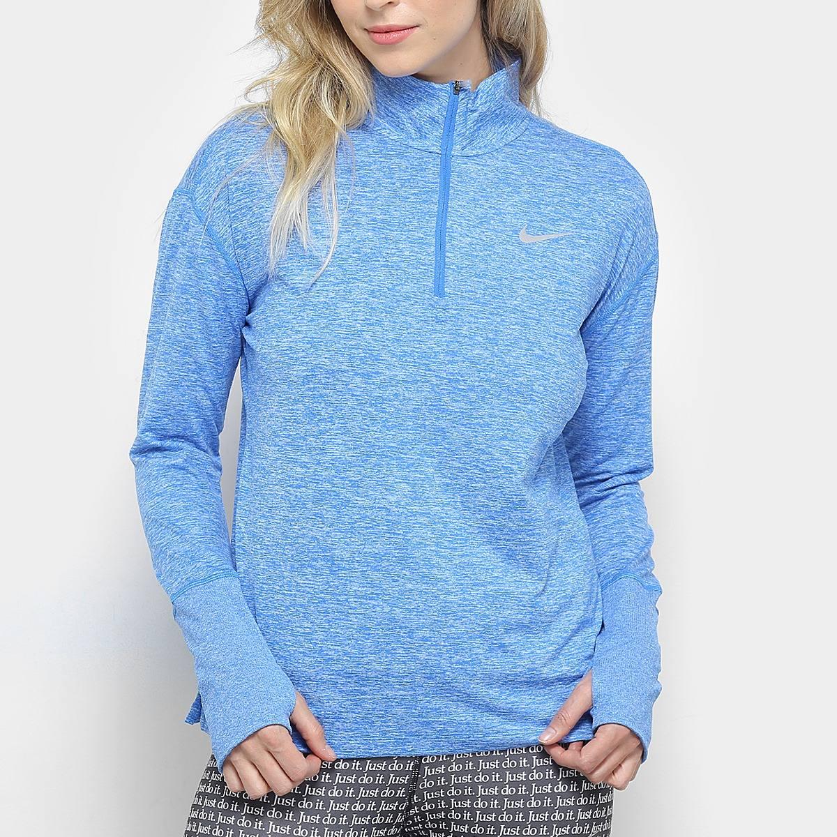df37ae20e9d jaqueta nike element top hz feminina - azul. Carregando zoom.