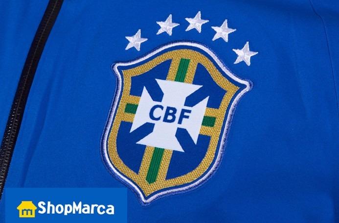 80f1d21352 Jaqueta Nike Olimpíadas 16 Brasil Cbf Impermeável De 799 P  - R  268 ...