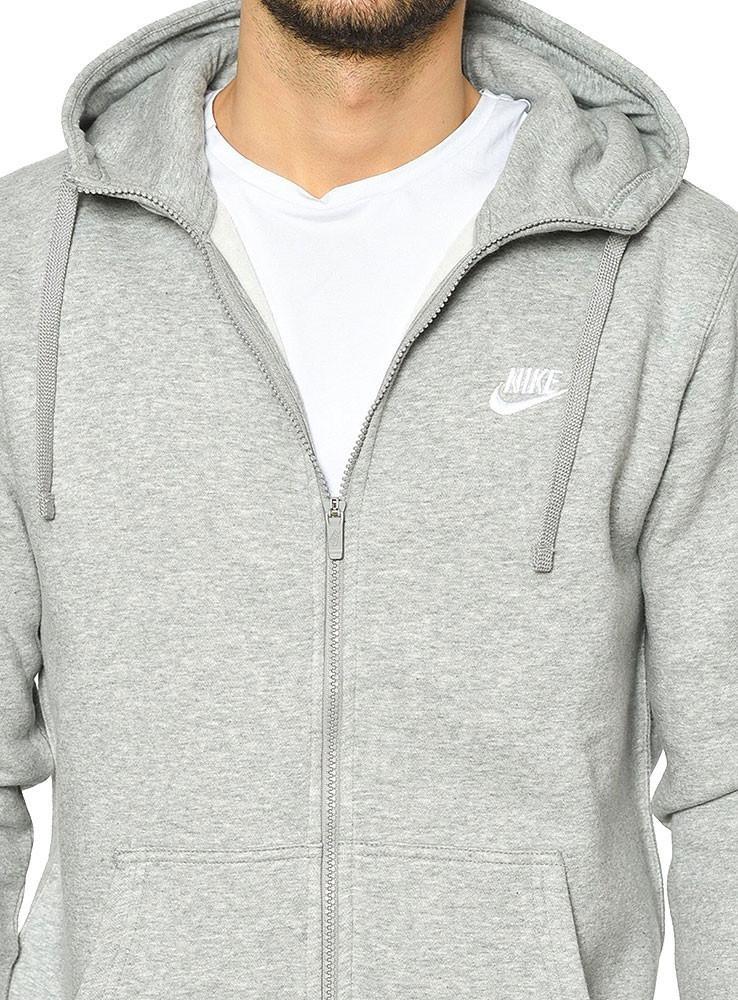 jaqueta nike sportswear full zip fleece club com capuz. Carregando zoom. 788b464b87f0c