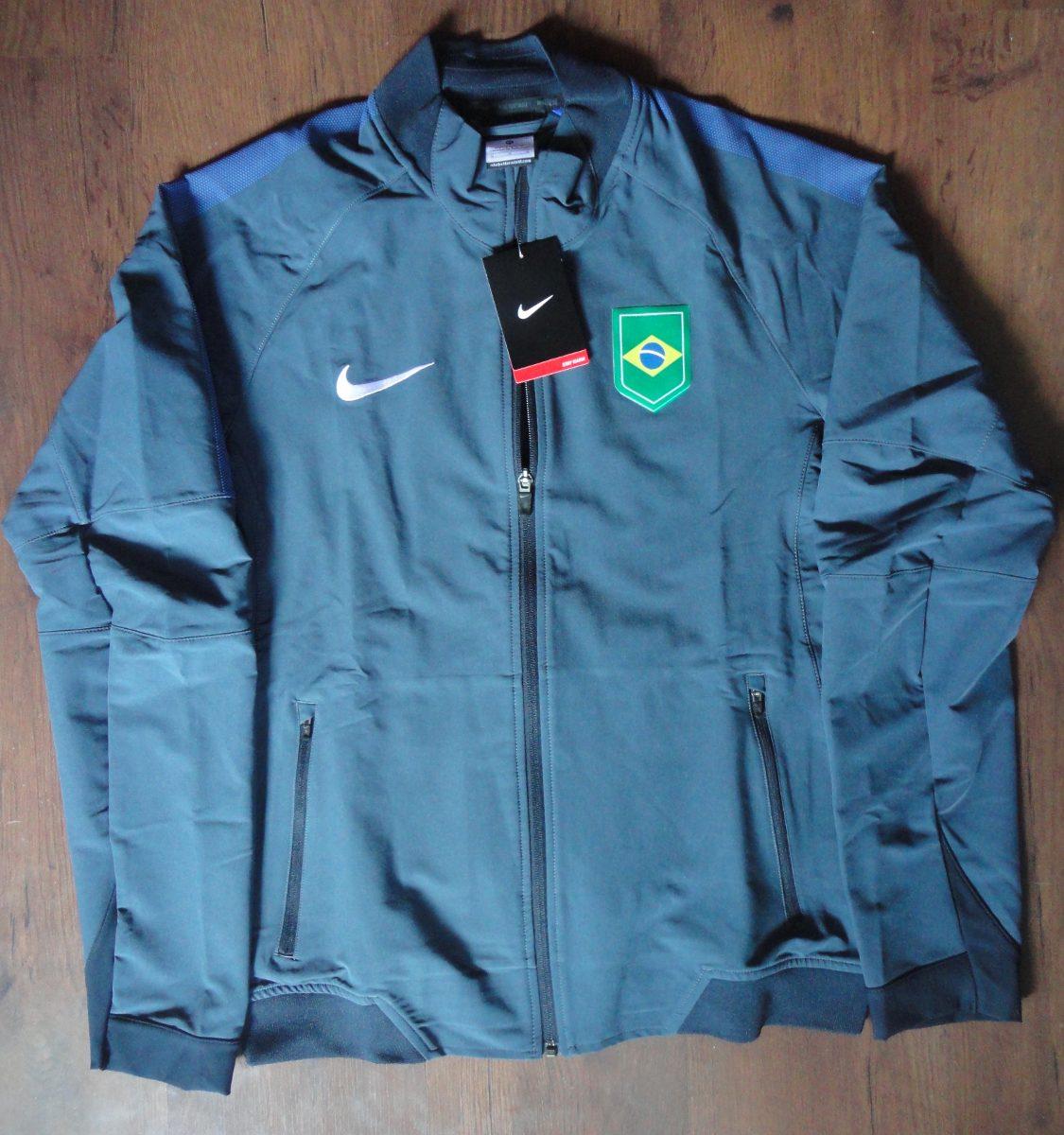 jaqueta nike team brasil olimpíadas original. Carregando zoom. 2d6d5d0085f26