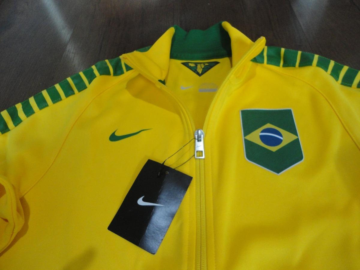 jaqueta nike team brasil olimpíadas original feminino. Carregando zoom. edab2e9124dc5