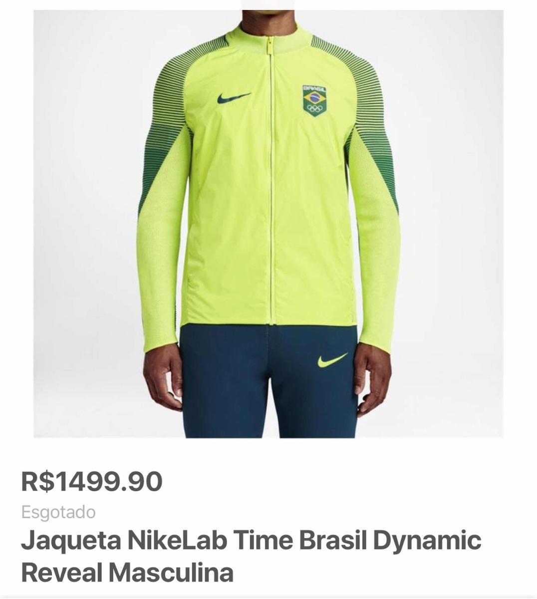7e7b81a1ad0c6 jaqueta nike time brasil olimpíadas rio 2016. Carregando zoom.