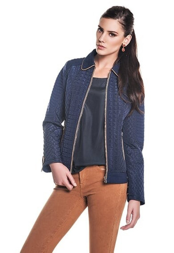 jaqueta nylon matelassê