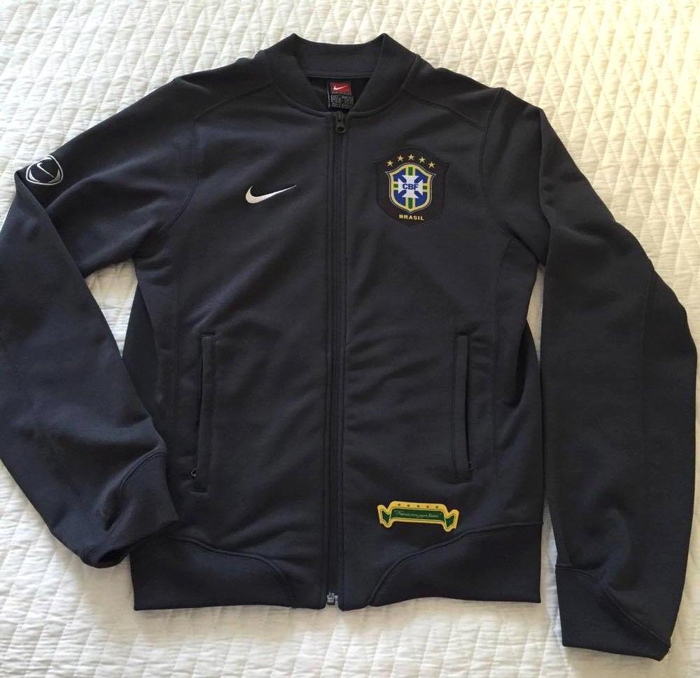 jaqueta oficial nike da seleção brasileira agasalho seleção. Carregando  zoom. c7e41b6e51adb