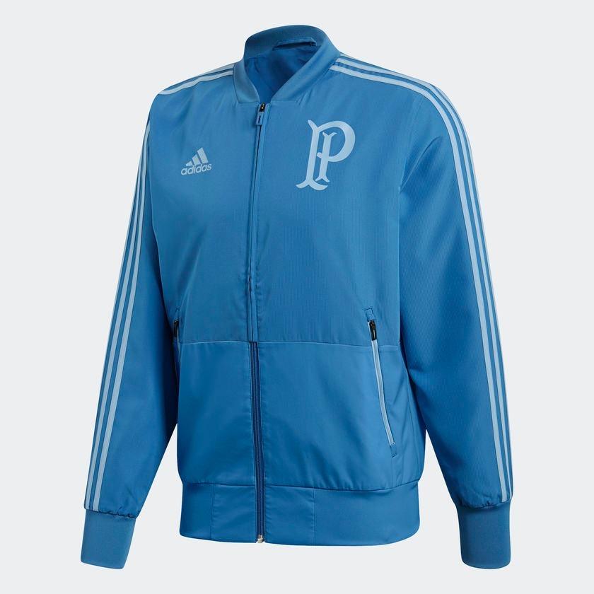jaqueta palmeiras adidas viagem masculina azul. Carregando zoom. 95e384f38da18