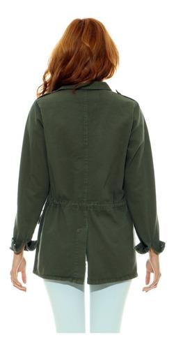 jaqueta parka lady rock verde militar inverno frete grátis