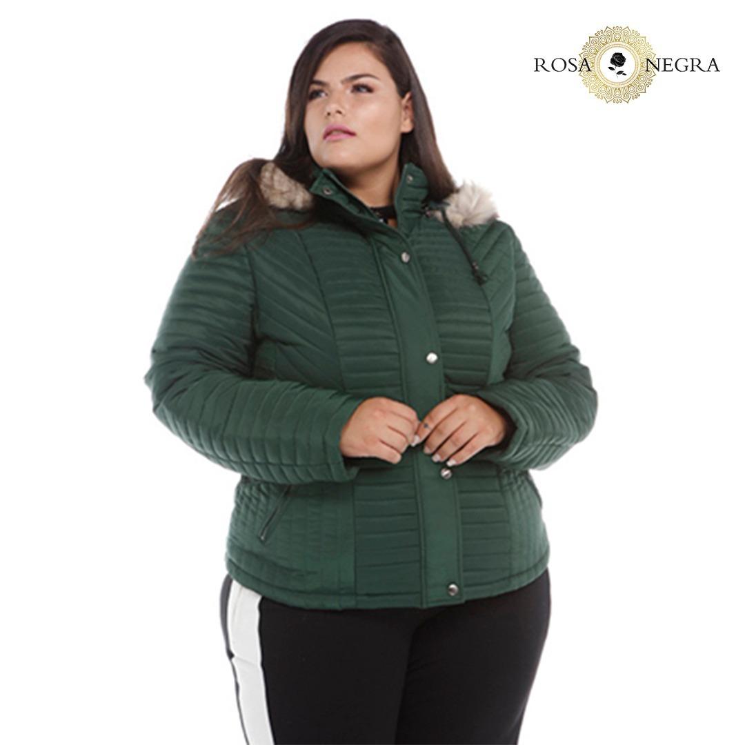 cf105190a11 Jaqueta Plus Size De Nylon Com Gola De Pelo Removível - R  119