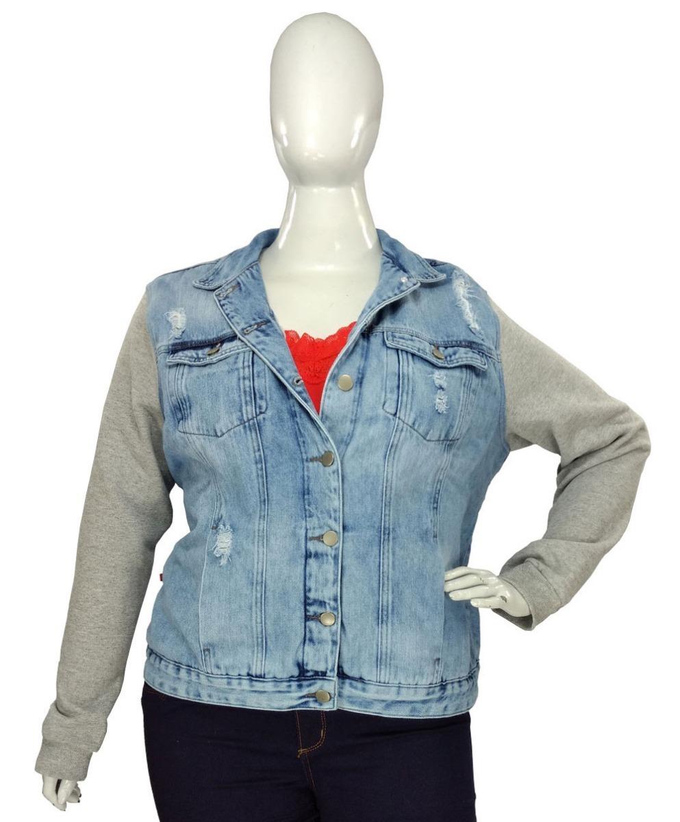 61cbea88d jaqueta plus size jeans e moletom casaco peluciado feminino. Carregando  zoom.