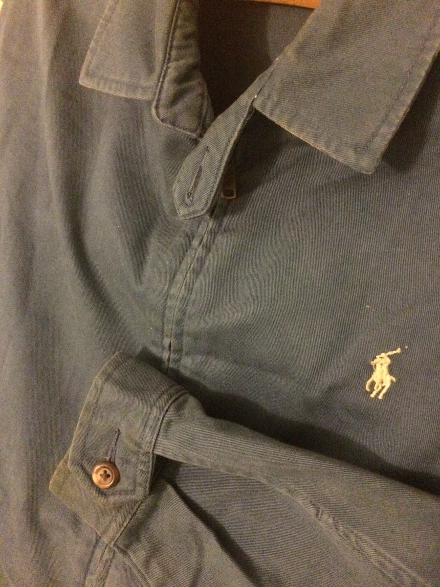 b838dbacdfa jaqueta polo ralph lauren masculina small jeans sarja azul.  Carregando zoom. d9ec440e18718