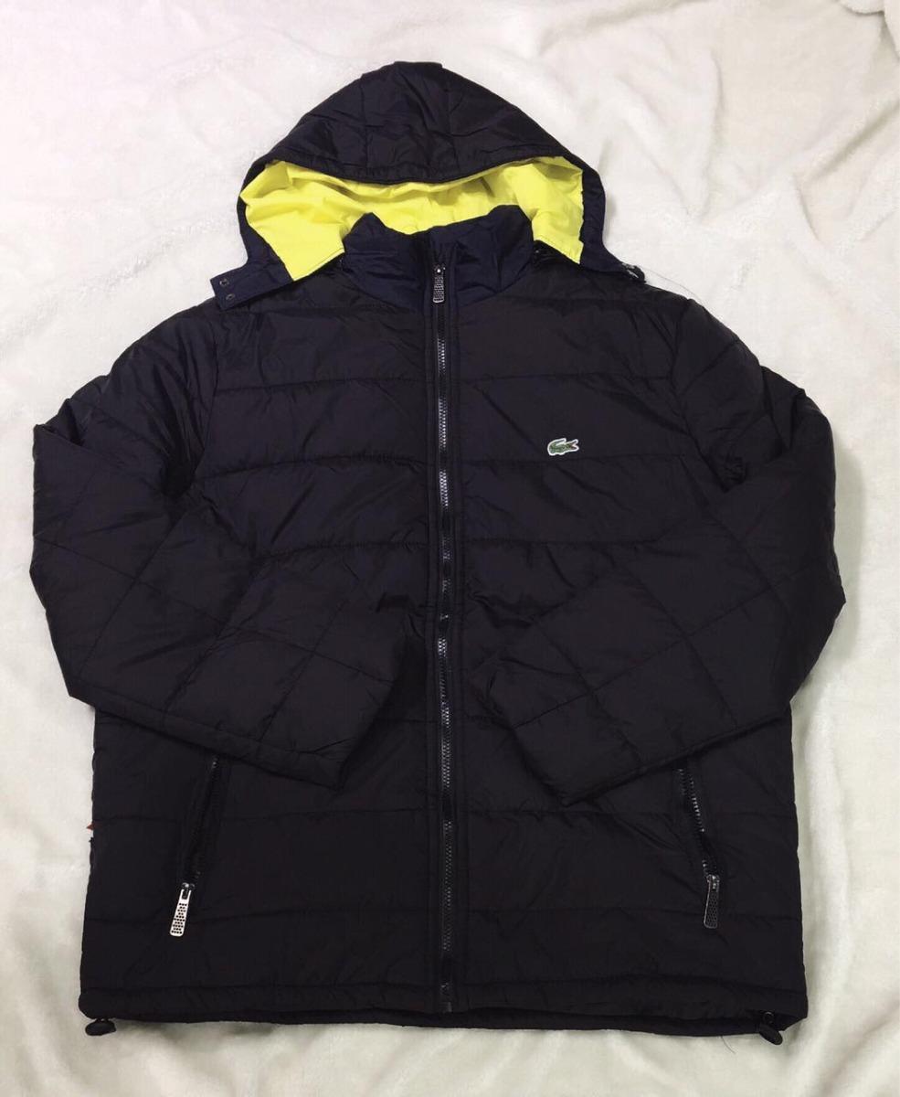 fc047f3ba51 jaqueta puffer lacoste comfort blusa de frio 100% poliéster. Carregando  zoom.