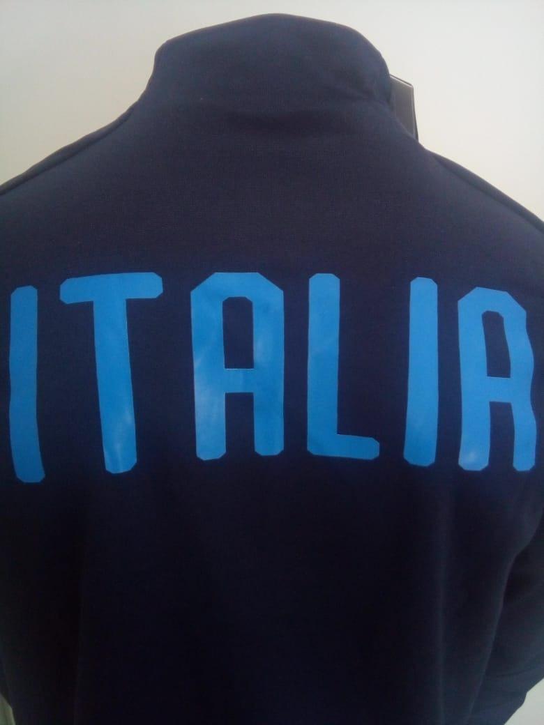 a18b2115a4 jaqueta puma itália home 2018 oficial azul. Carregando zoom.