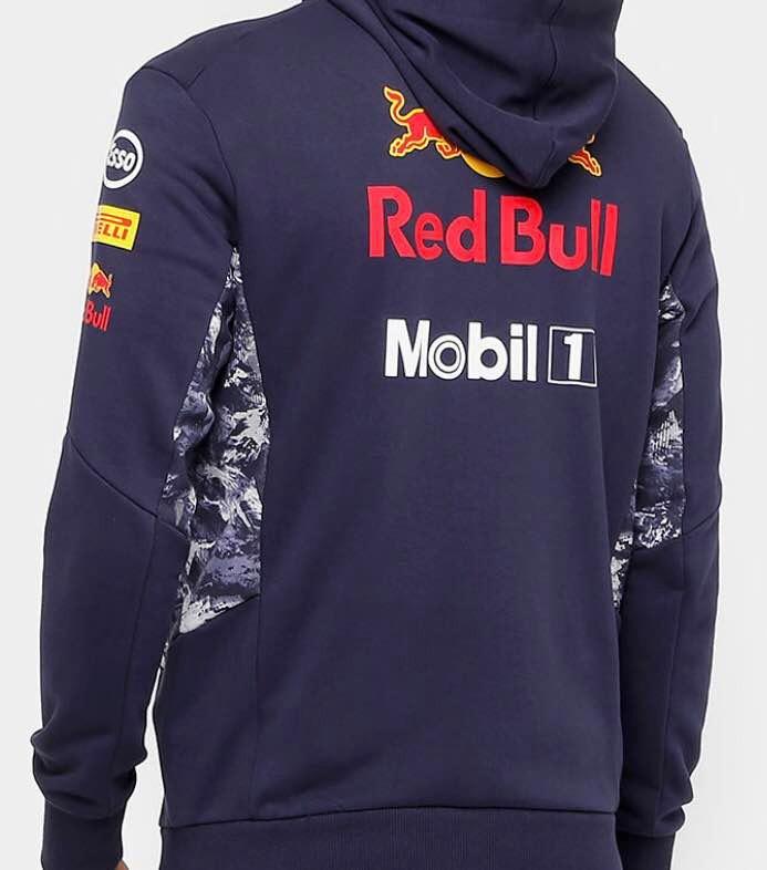 3928bb6b60fd7 Jaqueta Puma Red Bull Racing Hooded - Moletom - Original - R  369