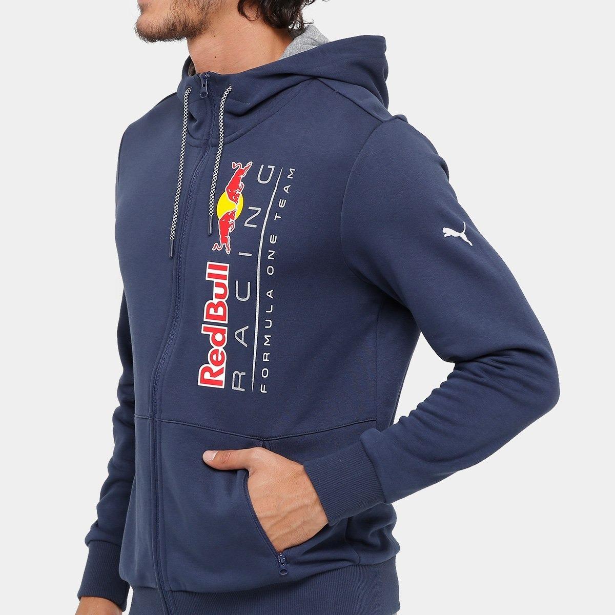 Jaqueta Puma Red Bull Racing Sweat Masculina Marinho - R  199 670b17519fc14